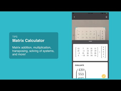 Matrix Calculator With Microsoft Math Solver!