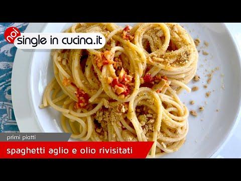 Spaghetti aglio olio e peperoncino rivisitati