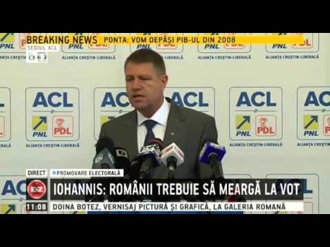 Klaus Iohannis canta imnul national