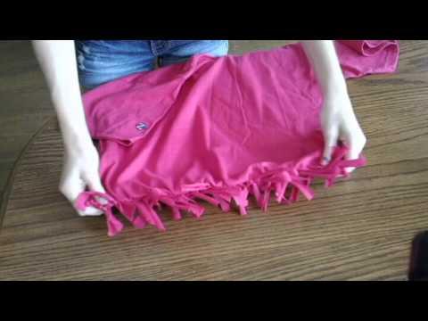 Diy How To Make A T Shirt Into A Bag No Sew Youtube