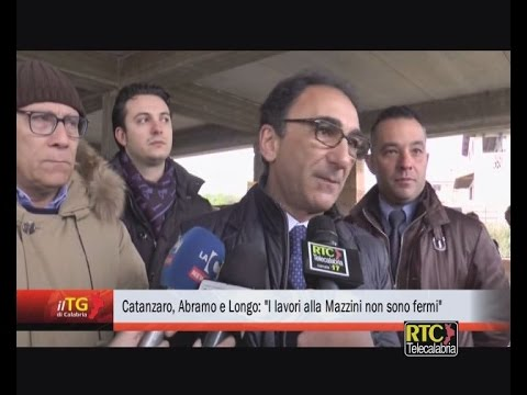 """Catanzaro, Abramo e Longo: """"I lavori alla Mazzini non sono fermi"""" RTC TELECALABRIA"""