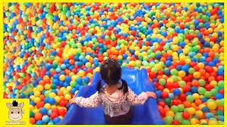 Indoor Playground Learn Colors Rainbow Slide for Children Toddlers Kids Play | MariAndKids Toys