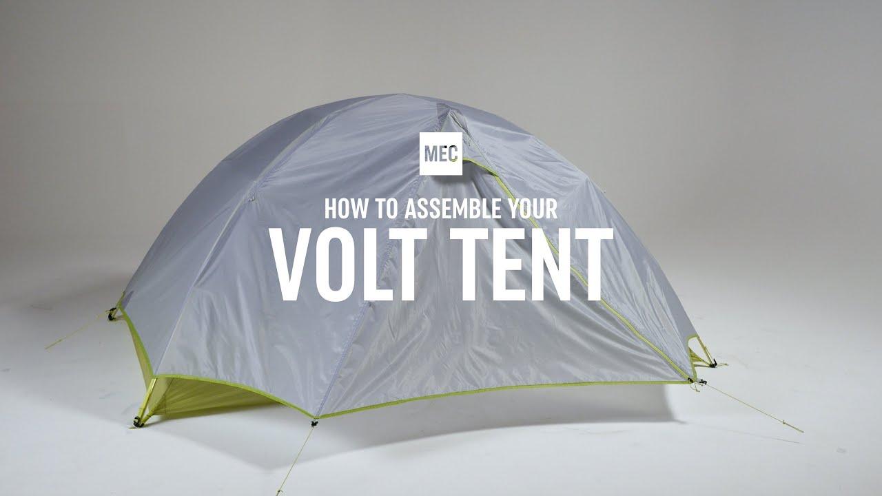 f13af1b1c44 How to Assemble your MEC Volt Tent - YouTube