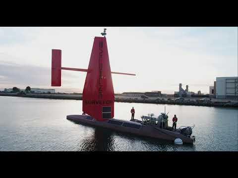 Saildrone Surveyor 72-foot USV Launched in California
