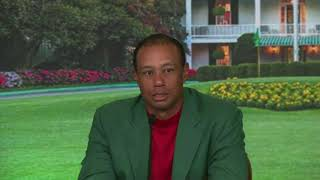 Tiger Woods gets emotional at The Masters press conference after his win