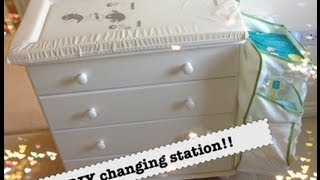 Sneak peek at the nursery & DIY changing table!