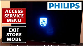 How to Access Philips TV Service Menu || LED TV Hard Reset || Exit Store Mode || Easy Method