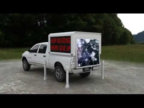 buy a Mobile LED Advertising Screen Station for your Pickup Truck Bed