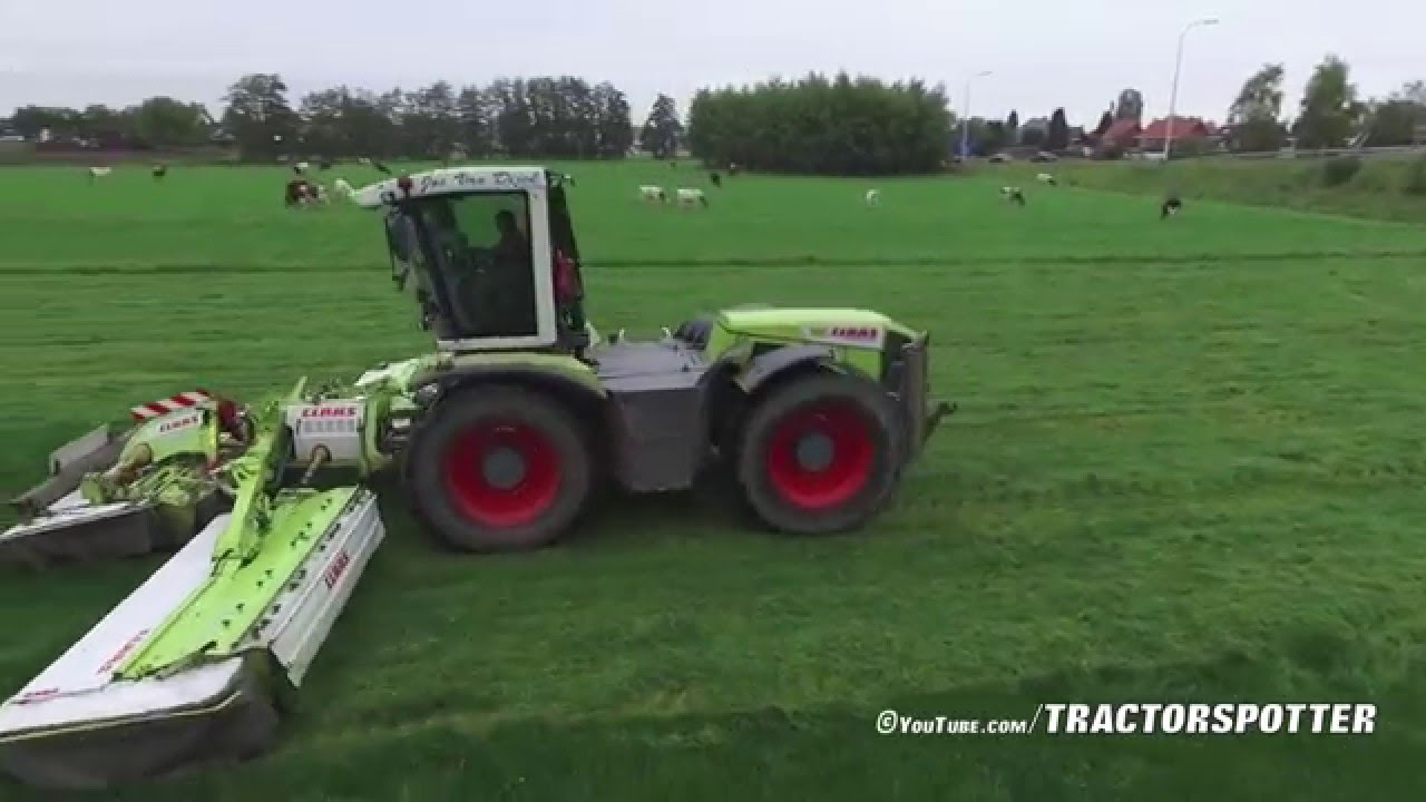 Corn Van Dijck.Jos Van Dijck Claas Xerion 3300 Vc Triple Disco Mowers Youtube