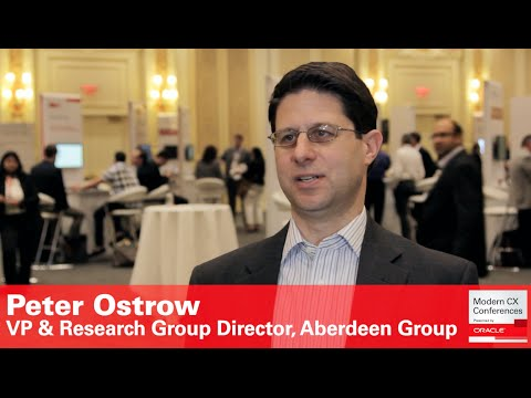 Peter Ostrow, VP & Research Group Director, Aberdeen Group (Customer Experience)