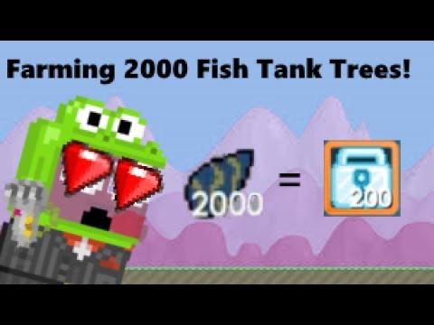 Growtopia: Farming 2000 Fish Tank Trees!