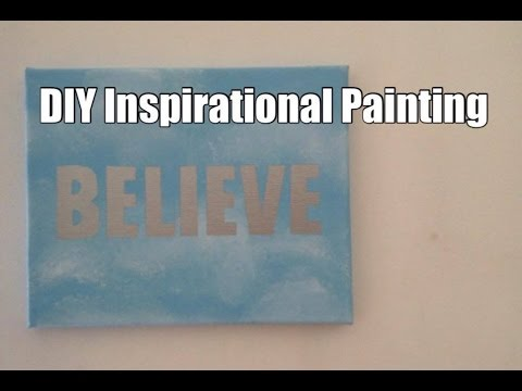 DIY Inspirational Word Painting for Motivation & Happiness