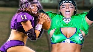 Women Try Lingerie Football