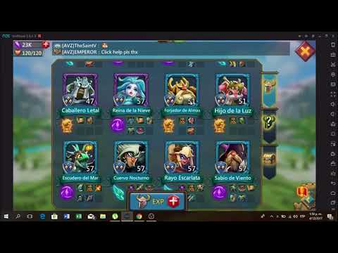 Subir Heroes (colores) Lords Mobile