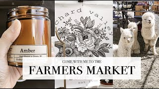 Local Farmers Market - Come With Me - VLOG