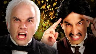 Repeat youtube video Nikola Tesla vs Thomas Edison.  Epic Rap Battles of History Season 2.