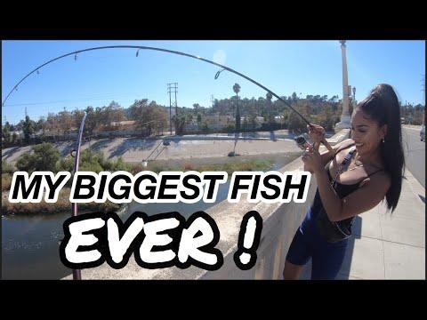 FISHING LA RIVER (MY BIGGEST FISH EVER)