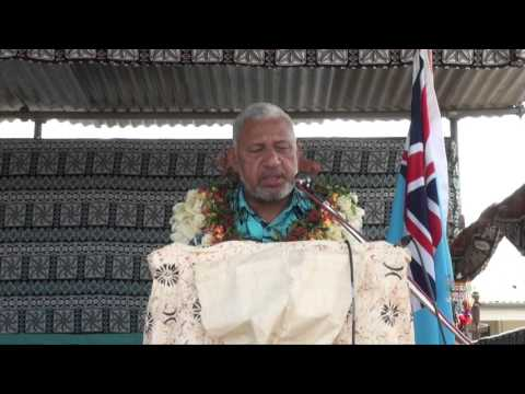 Fijian Prime Minister Issues SME Grants and Land leases at Labasa Taxi Stand