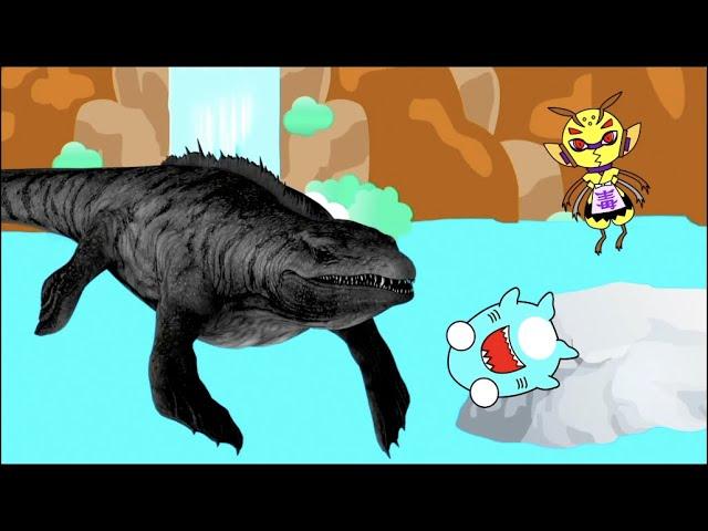 【古代ザメのアニメ】恐竜時代のサメ!クレトキシリナ先輩の冒険