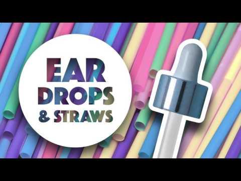 HQ ● ASMR ● EAR DROPS & STRAWS ● Close up ● ear to ear