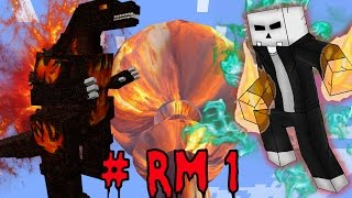 BURNING GODZILLA VS ELMATADOR !!!  | RETOS MINECRAFT CAPITULO #1 T4