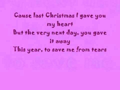 Taylor Swift - Last Christmas with lyrics!