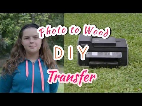 Photo transfer to WOOD Live Stream - DIY Gift Idea