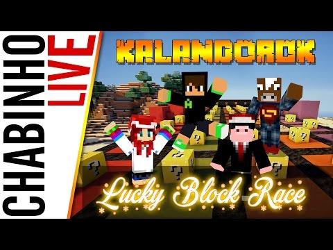 【Lucky Block Race】Kalandorok + egy boci! :D - 100000 SUB!