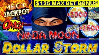 ⚡️MASSIVE HANDPAY DOLLAR STORM NINJA MOON ⚡️ALSO $125 MAX BET BONUS ON CARIBBEAN GOLD ⚡️SLOT MACHINE