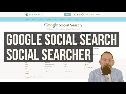 Google Social Search And More With Social Searcher