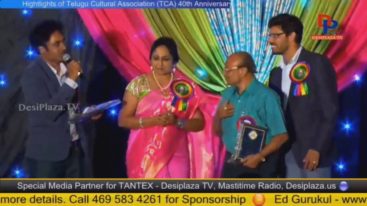 Mr Kamma Reddy Chandrasekhar, founder being felicitated at TCA Houston - Convention 2016