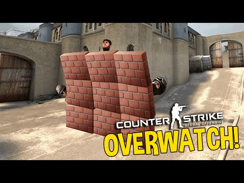 CS GO WALL HACKER - OVERWATCH FUNNY MOMENTS