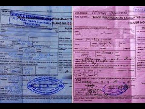 Agar Tidak Salah Kenali Surat Tilang Warna Biru Dan Merah