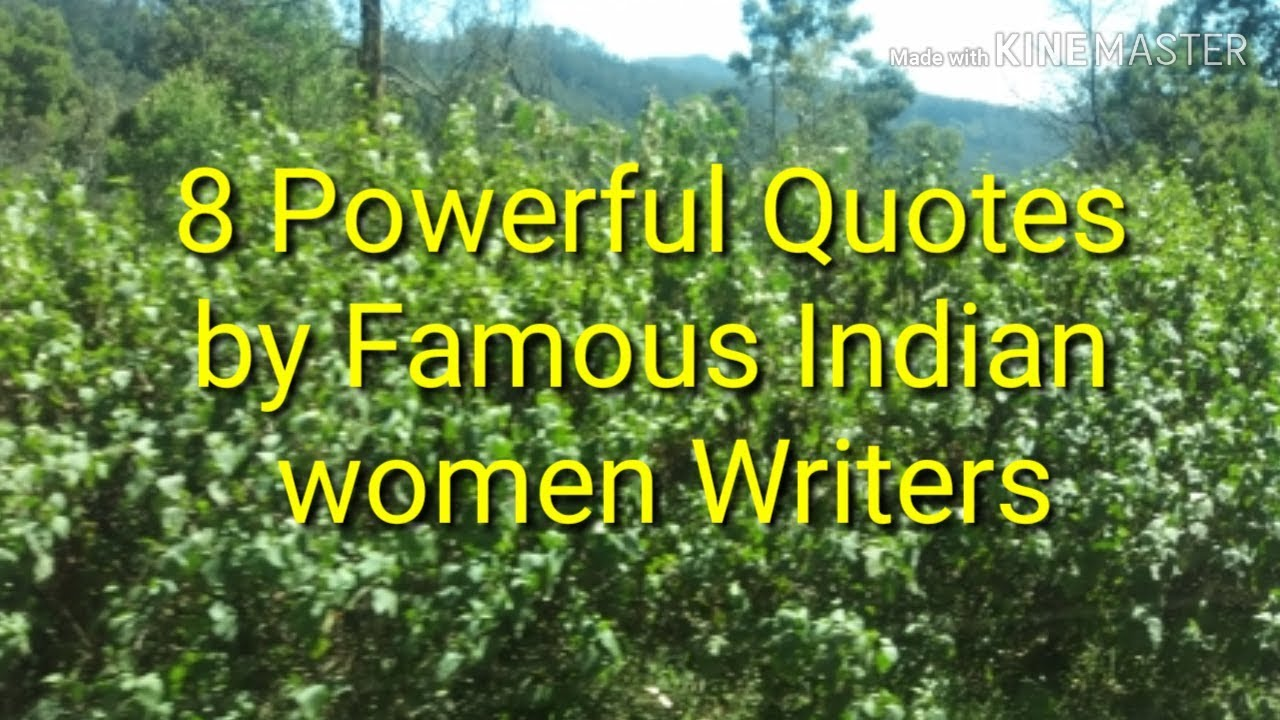 8 Powerful Quotes By Indian Women Authors Youtube