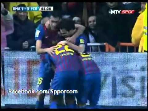 Real Madrid 1-3  Barcelona   Gol : Fabregas 10.12.2011