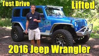 Another Amazing LIFTED 2016 Jeep Wrangler!! Test Drive, Detailed Walkaround!