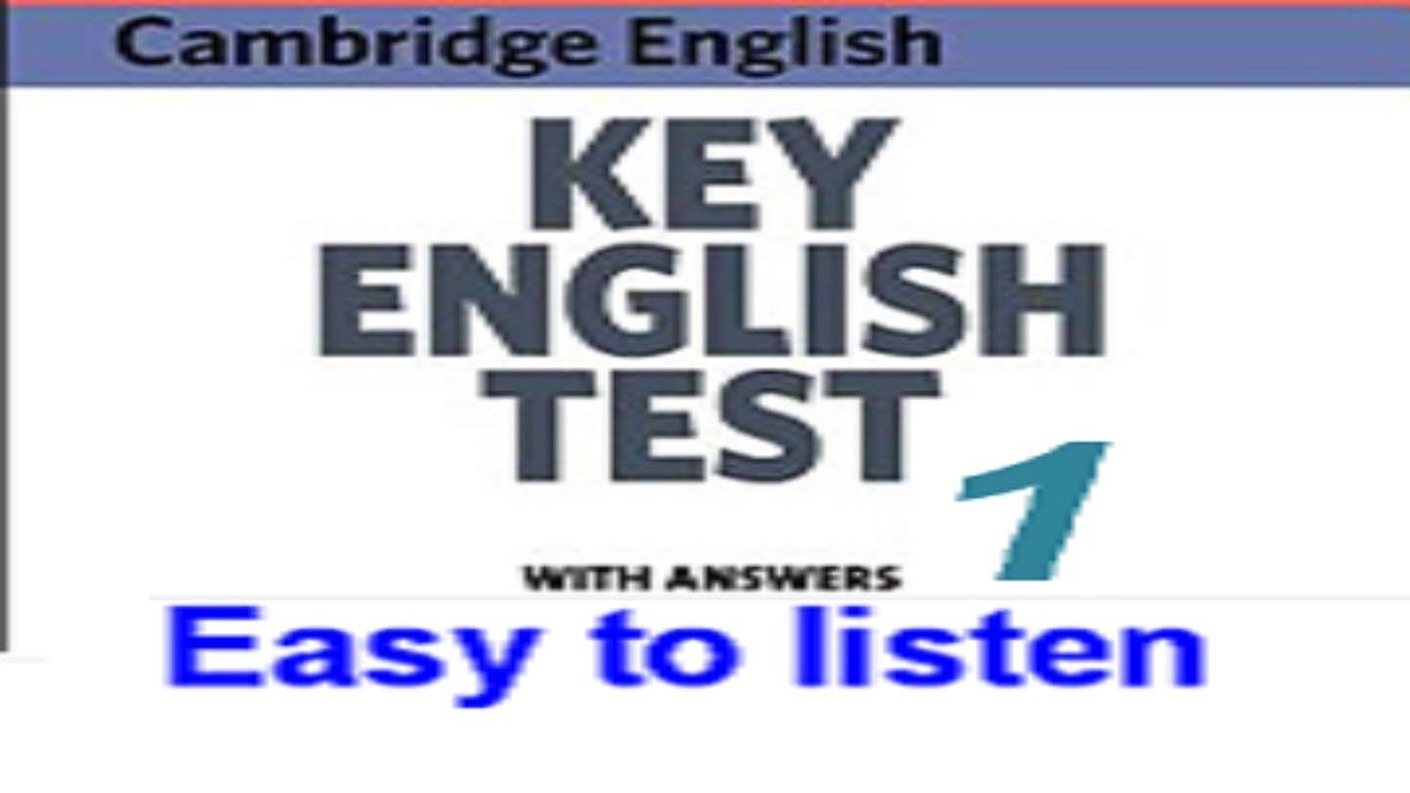 KEY ENGLISH TEST 1 (KET 1) – Test 1 (Task) – Luyện nghe tiếng anh (Listening) – English Vlogs