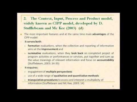 Development and Implementation of an Internal Evaluation Model at a Higher Education Institution