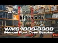 WMS1000-3000 Manual Fork Over Pallet Stacker - Liftruck