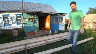 Ремонт в доме/  Новые полы в дом /купили доски⚒/ влоги из деревни.