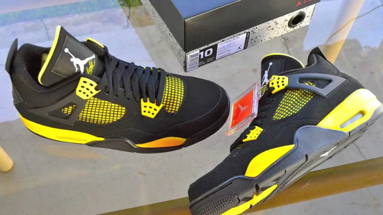official photos 2c22c ede21 Air Jordan 4 Retro Thunder 2012 Trade for Bred 11 on Release Date Review