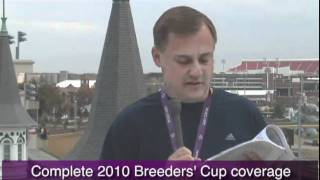2010 Breeder's Cup wagering tips and picks - Jody Demling