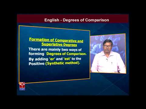 TRT -  SGT || English - Degrees of Comparision || G. Ramabadhra Charyulu