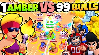 1 Amber vs 99 Bull's! 10 Round Showdown! Who Will Win?!