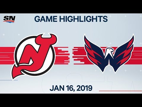 NHL Highlights | Devils Vs. Capitals – Jan. 16, 2020