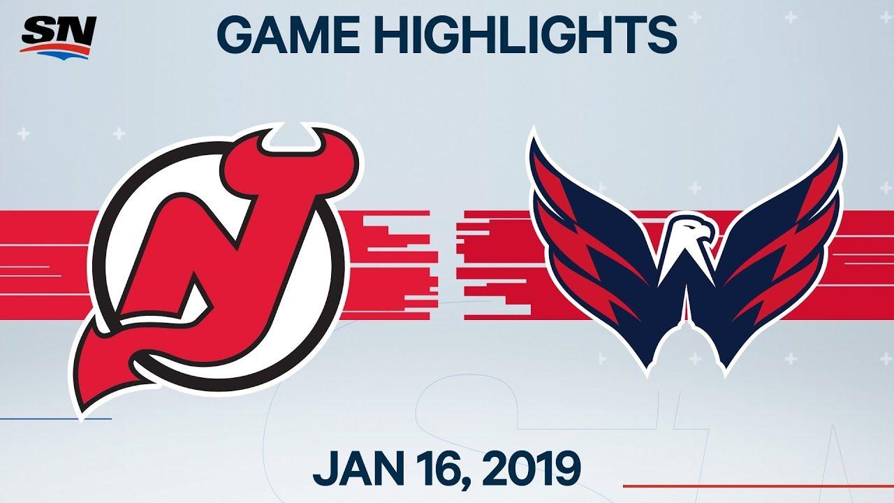 NHL Highlights | Devils vs. Capitals – Jan. 16, 2020
