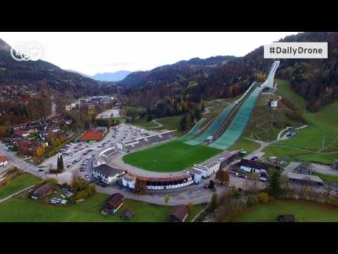 #DailyDrone: Rampa de esqui de Garmisch-Partenkirchen