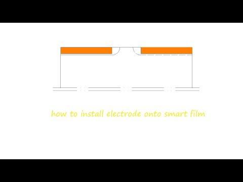 卷材式通电透明断电雾化调光膜怎样制作安装电极教程