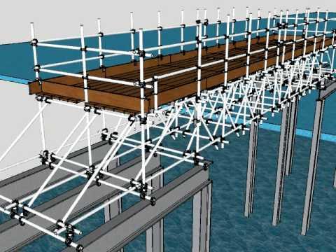 Scaffolding Design 3D Tube & Fitting / Modular - by jaztekdesign.com
