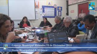 Concejo Municipal Miércoles 19 de Diciembre 2018 - El Quisco